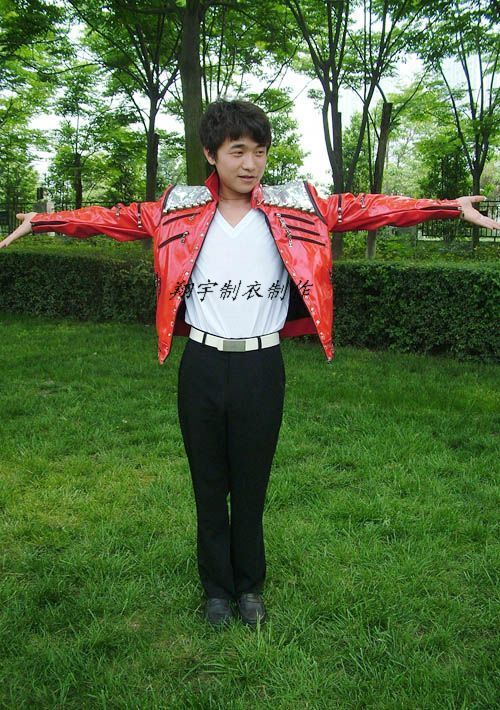 MICHAEL JACKSON BEAT IT RED JACKET MJ